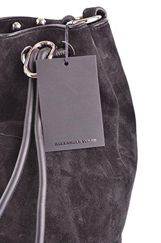 Alexander Wang Mujer MCBI335016O Negro Gamuza Bolso De Hombro