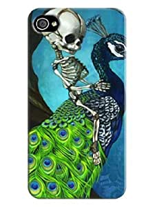 100% Brand New Hard Case Cover Beautiful Skull Arts for iphone 4/4s Cases LarryToliver #4
