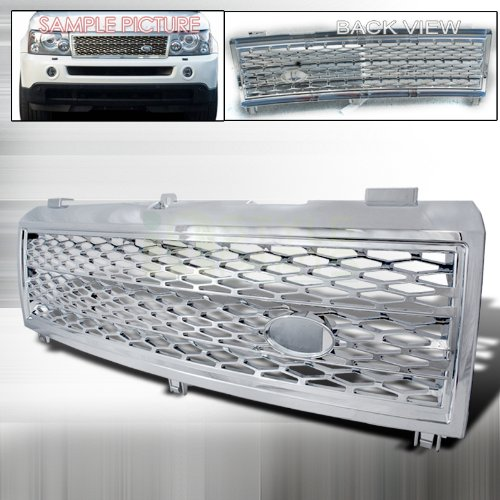Spec-D Tuning HG-RRL32203C Land Rover Range Rover Hse L322 Chrome Front Grill - Tuning Range