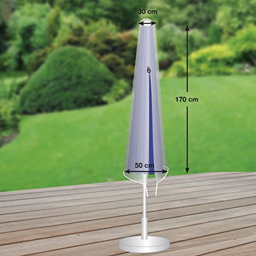 Durchmesser 200 bis 300 cm von mehr Garten Premium Schutzh/ülle f/ür Partyschirm aus Polyester Oxford 600D lichtgrau