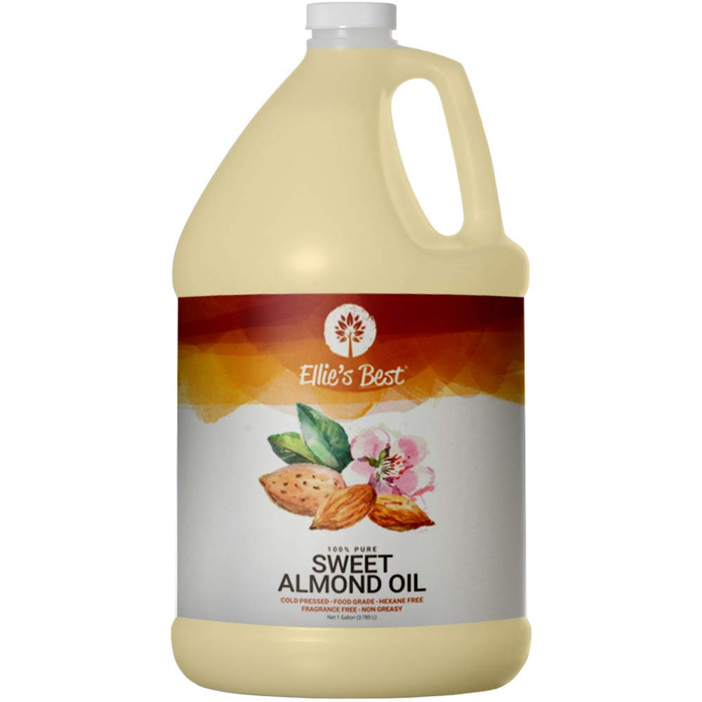 Sweet Almond Oil - Pure USA Cold Expeller Pressed & Hexane Free - Best Carrier Oil for Essential Oils - Massage & Aromatherapy - Therapeutic Grade - Food Grade (1 gal)