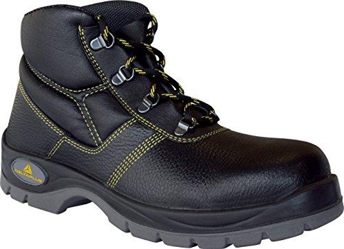 Delta plus calzado - Juego bota piel poliuretano negro talla 44(1 par)
