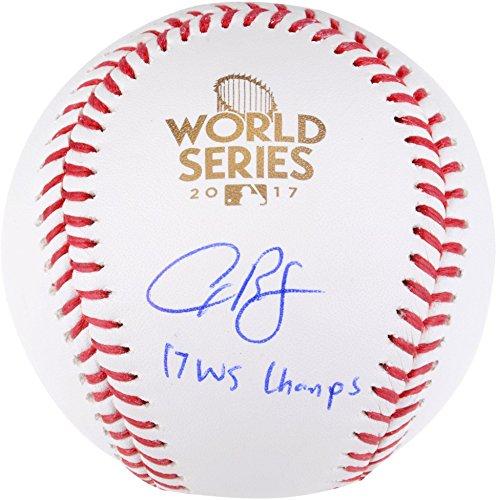 Alex Bregman Houston Astros 2017 MLB World Series Champions Autographed Logo Baseball with
