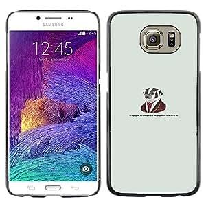 KLONGSHOP // Cubierta de piel con cierre a presión Shell trasero duro de goma Protección Caso - El doctor Dog - Samsung Galaxy S6 //