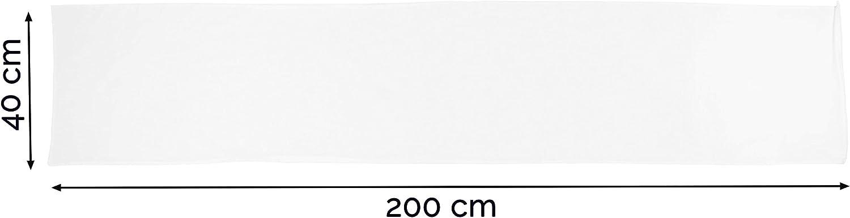 Mezcla de algod/ón Otras Medidas ZOLLNER 2 Fundas de Almohada 40x200 cm