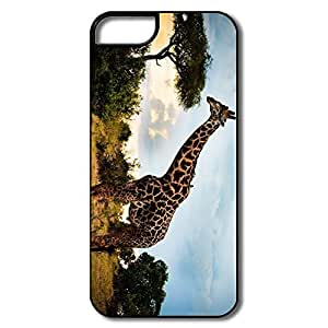 Designed Covers Vintage Animals Tree Giraffe Too Tall Case For Iphone 5/5S Cover