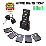 Key Finder Wireless RF ltem Locator Anti-lost Alarm Keychain Mini ltem Tracker Wallet Bags Purse Pet Remote Control Tag Support Alarm Keychain 6 in 1 RF Transmitter and Receivers Key Wallet
