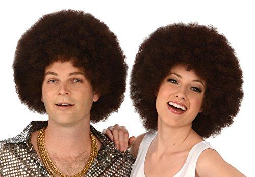 Kangaroo Costume Wigs; Brown Afro Wig; Unisex Afro (Bob Ross Wig)