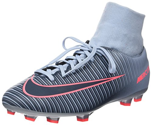 Nike Youth Mercurial Victory VI DF FG Soccer Cleats (Light Armory Blue/Armory Navy/Armory Blue) (3Y)