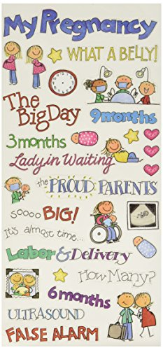 - Me & My Big Ideas Sayings Stickers 5-1/2-Inch-by-12-Inch Sheet Packaged, Pregnancy