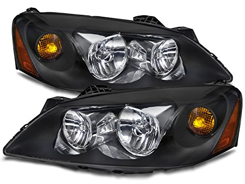 pontiac-g6-black-halogen-headlights-headlamps-pair