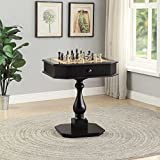 ComfortScape Game Room Table for Checkers Backgammon with Drawers, Black