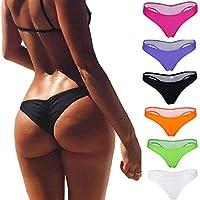 b50b2d775c3 Focussexy Women's Hot Summer Brazilian Beachwear Bikini Bottom Thong  Swimwear