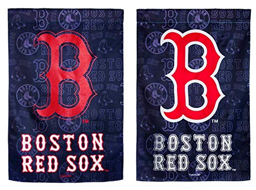 Rico Industries, Inc. Boston Red Sox EG Premium 2-Sided Glitter Design Banner Flag Baseball