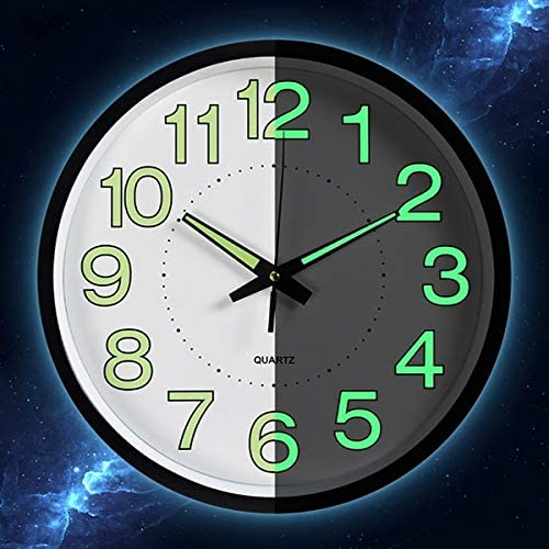 1 30x30x4,5cm MDF GODNECE Horloge Murale Vintage silencieuse sans tic-Bruit dans Le Noir /Ø 30 cm