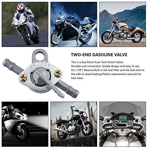 ankunlunbai Robinet dessence avec deux extr/émit/és interrupteur marche//arr/êt pour moto ATV