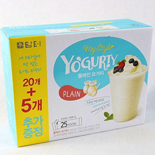 DAMTUH Original Plain Yogurty Powder, Powdered Yogurt Starter Probiotic Blend, 25 Sticks