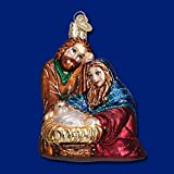 Old World Christmas Holy Family Glass Blown Ornament