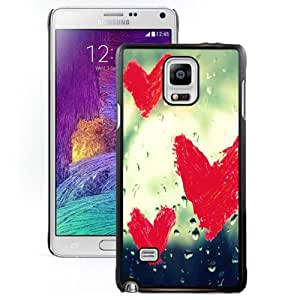 Popular And Unique Designed Case For Samsung Galaxy Note 4 N910A N910T N910P N910V N910R4 With Red Love Heart Doodle Phone Case Cover