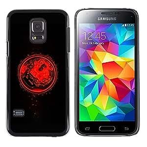 For Samsung Galaxy S5 Mini, SM-G800 - Black Red Planet Digital Art /Modelo de la piel protectora de la cubierta del caso/ - Super Marley Shop -