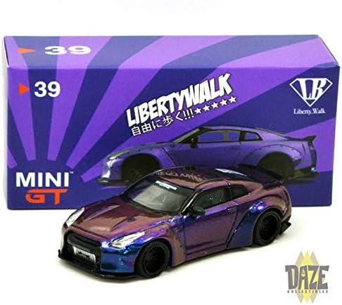 R35 Magic Green MINI GT x Tarmac Works 1:64 LB WORKS Nissan GT-R