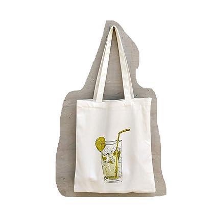 Amazon.com | Nueva bolsa de tela de lona informal para mujer ...