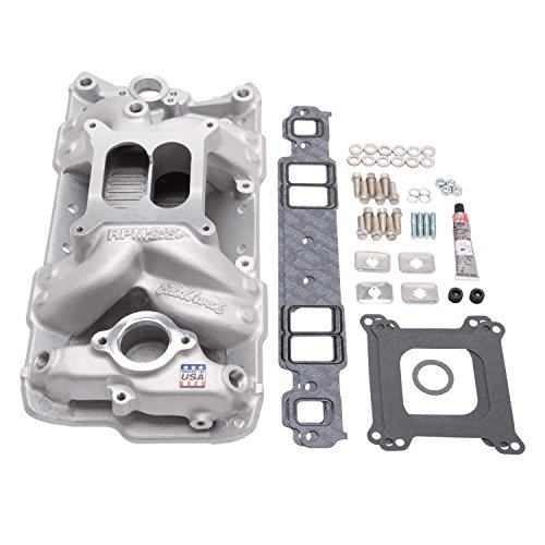 Edelbrock 2042 Performer RPM Air-Gap Intake Manifold Installation Kit Inc. Manifold PN[7501]/Intake Gasket PN[7201]/Intake Bolt Kit PN[8504]/Carb Stud Kit PN[8008]/Carb Base Gasket/RTV Sealant Performer RPM Air-Gap Intake Manifold Installation Kit - Edelbrock Rpm Air Gap Intake