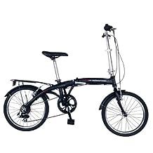 Hollandia Amsterdam 7 Folding Bike, 20 inch Wheels, 11 inch Frame, Unisex, Black