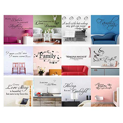 Amazon.com: Batop Art Words Quote Wall Sticker - Family Quotes Wall Decal - Home Decoration - Bedroom Removable Vinyl Adesivo De Parede (Style 7): Home & ...