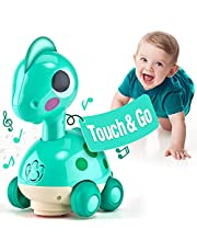 CubicFun Touch and Go Dinosaur Baby Toys 12-18 Months Development, Musical Flash Crawl Toddler Toys for 1 2 Year Old Boys Girls, Baby 1 2 Year Old Boy Girl Gifts for 12 Months+