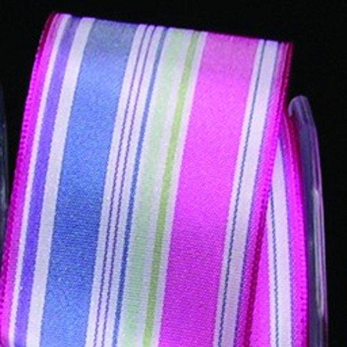 Fuchsia Pink and Blue Taffeta