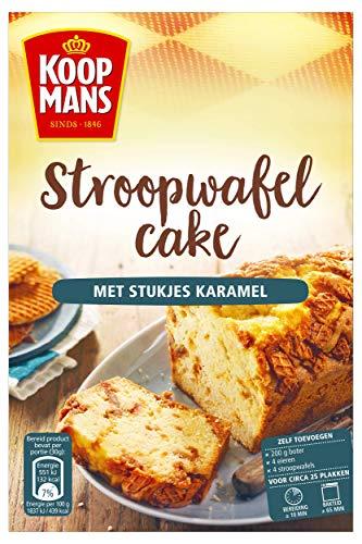 Koopmans Stroopwafelcake met stukjes karamel – bakmix voor 1 cake (400 g)