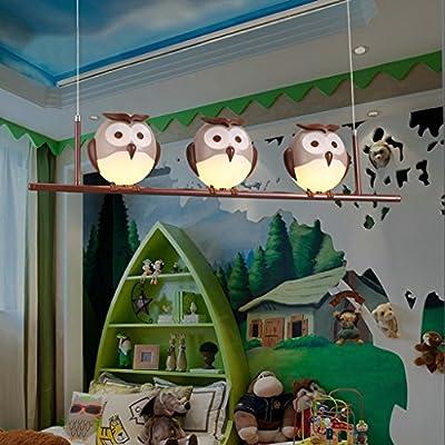 NYDZ Children's Room Lamp Girl Room Round Cute Lighting Creative Cartoon Boy Bedroom Warm Eye Chandelier Lamp