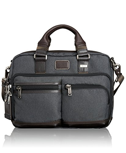 Tumi Alpha Bravo Andersen Slim Commuter Brief, Anthracite, One Size by Tumi