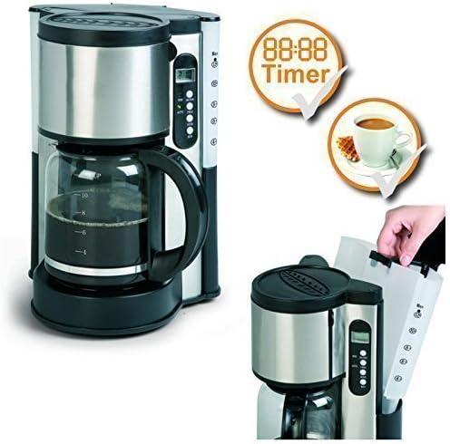 De acero inoxidable de la máquina de café de con temporizador de ...