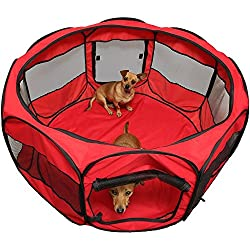"""GOOD QUALITY 45"""" DOG PLAYPEN TENT FOR YOUR LOVELY DOG - RED COLOR"""