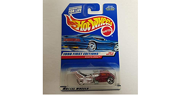 1998 FIRST EDITION Hot Wheels WHATTA DRAG  #36 of 40
