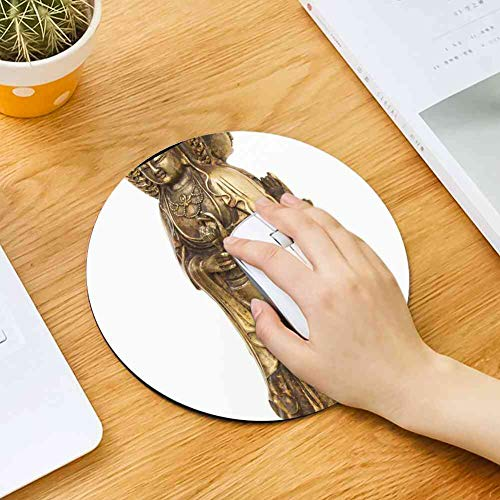 Mouse Pad Round Mouse Pad Art Bronze Cast Gilded Asia Guanyin China Hands #78696 Fashionable 200mm3mm