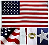 Shop72- U.S. Nylon Flag American Flag USA Flag 3 x 5-210D Oxford Embroidered Stars Sewn Stripes Canvas Header Brass Grommet Wind Side Double Stitch