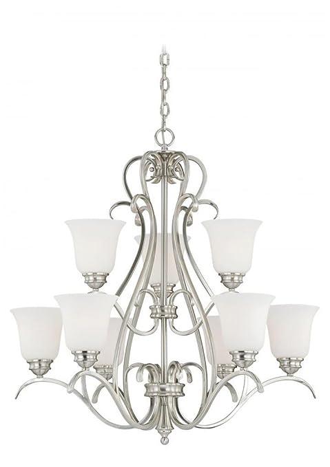 Amazon.com: Vaxcel iluminación h0151 Hartford 9 Luz Dos Tier ...