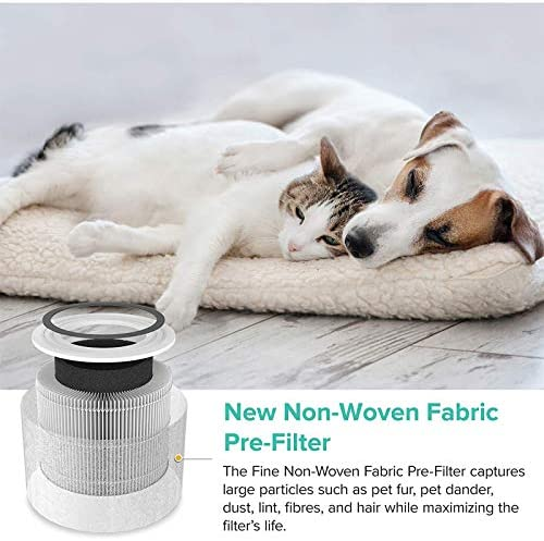 Levoit Air Purifier Core P350-RF, 3-in-1 H13 True HEPA Filter for Pet Allergies, New Fine Non-Woven Fabric Pre, Air Filter and Cleaner with ARC Formula, White
