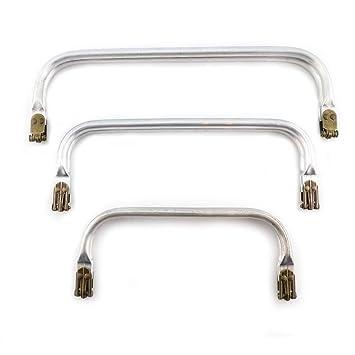 RUBY - Boquilla aluminio para interior monedero neceser o bolso cierres boquillas para crear tus bolsos manualidades (Lote 3 pcs)