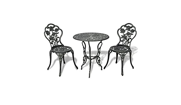 Festnight Set de Mesa y Sillas de Jardin de 3 Piezas Bisto Muebles de Jardín