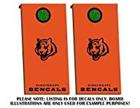 Cincinnati Bengals Cornhole Board Decals - BLACK - Fit for Bean Bag Toss Outdoor Game Sticker Set - Die Cut - Novelty Decals