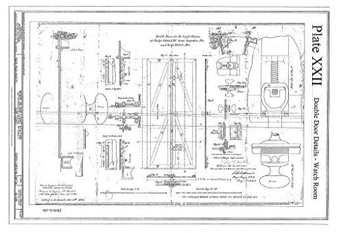 Historic Pictoric Blueprint Diagram HABS NC-395 (Sheet 36 of 36) - Bodie Island Light Station, Off Highway 12, Nags Head, Dare County, NC 12in x 08in