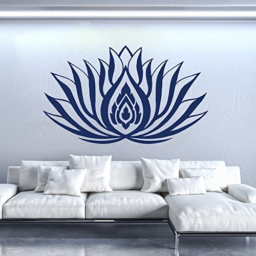 Vinyl Decal Lotus Flower Pattern Symbol Home Wall Art Removable Sticker Mural Yoga Zen Interior