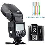 Godox V860II-S HSS GN60 2.4G TTL Li-on Battery Camera Flash Speedlite + Godox X1T-S Wireless Trigger Transmitter for Sony + HuiHuang USB LED Free gift