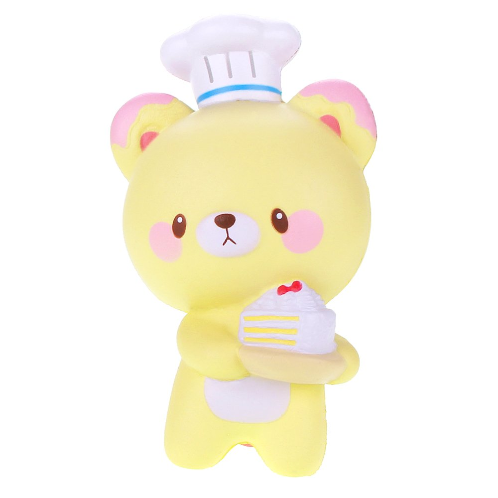 VLAMPO Yumeno Squishy Stress Toys Squishies Soft Slow Rising Chef Bear 5.7