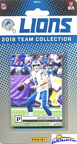 (Detroit Lions 2018 Panini NFL Football Factory Sealed Limited Edition 10 Card Complete Team Set Matthew Stafford, Golden Tate III, LeGarrett Blount, Kerryon Johnson RC & Many More! WOWZZER! )