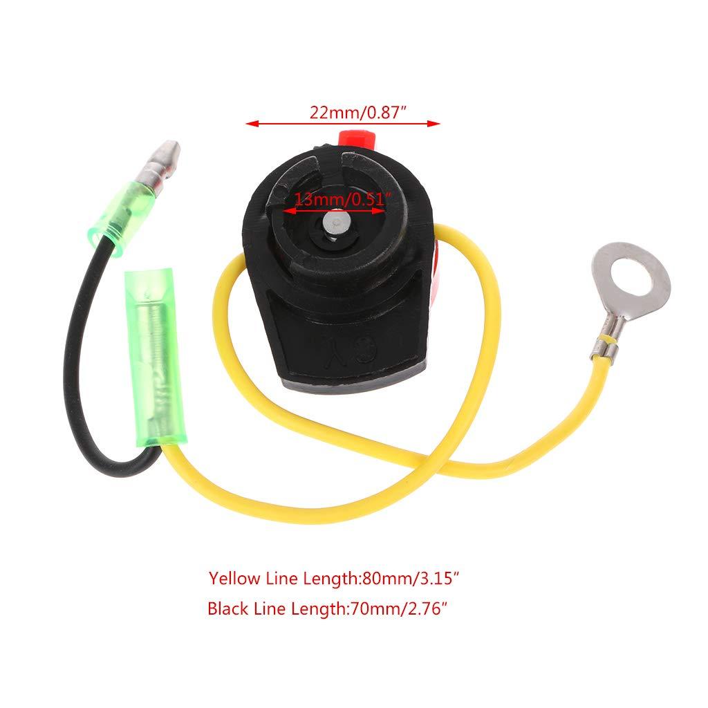 ZOOMY Engine Power Stop On Off Kill Switch Control For Honda GX110 GX120 GX160 GX200 GX240-1 wires